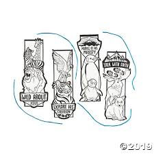 Color Your Own Wild Encounters VBS <b>Bookmarks</b> | Oriental Trading