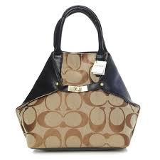 Coach Lock Small Khaki Totes BAO