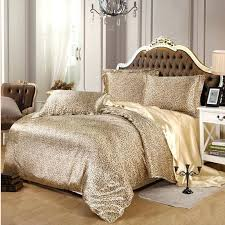 black and gray comforter sets y leopard satin bedding set solid gray brown purple imitated silk