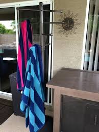 towel stand bronze. Pool Towel Stand Our New Swanky Poolside Tree Rack Thing Outdoor Racks . Bronze