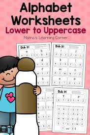 Dab It! Alphabet Worksheets - Match Lower and Uppercase Letters ...