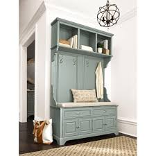 image home decorators. home decorators collection sadie antique blue double hall tree with cushion9856110310 the depot image