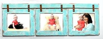 multiple picture frames rustic. 3 5x7 Picture Frames Collage Turquoise Frame Multi Opening Rustic  Reclaimed Landscape Or . Multiple
