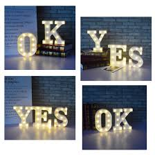 Marquee Sign Alphabet Led Lamp Available In 26 Letters