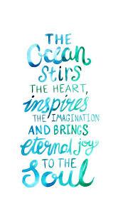 Ocean Love Quote Watercolor Lettering Art Print Cool Sayings