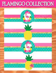 Hawaiian Theme Party Invitations Printable Flamingo Party Flamingo