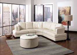 Furniture:Peach Sectional Sofa With L Shape Finished With Black Bottom  Stools Gleaming Unique White