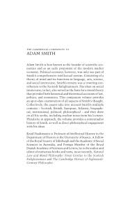 adam smith the cambridge companion