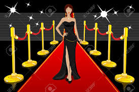 carpet clipart. illustration of glamorous lady walking on red carpet stock vector - 9130364 clipart