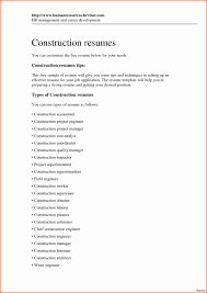 Construction Company Resume Template Picture Construction Pany