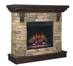 stacked stone electric fireplace uniflame diy corner
