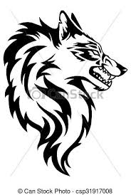 wolf face black and white. Exellent Black Illustration Of Wolf Face And Black White R