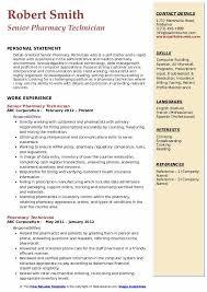 Pharmacy Tech Resume Template Pharmacy Technician Resume Samples Qwikresume