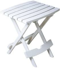 white outdoor side table. ADAMS MANUFACTURING White Patio Side Table Folding Small Coffee Lawn Pool Accent Outdoor E