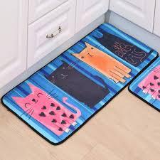 Cute Carton Cat Doormats Bathroom Bedroom Anti-Slip Door Mats Rug ...