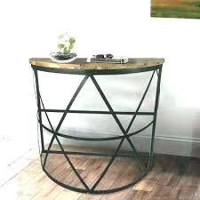semi circle accent table semi circle accent table semi circle accent table industrial reclaimed wood console