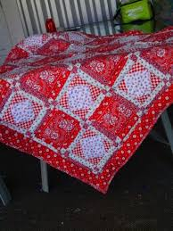 71 best Quilt - Bandana Style images on Pinterest | Carnivals ... & red Bandana quilt. I can't believe what beautiful work my friend Helen makes Adamdwight.com
