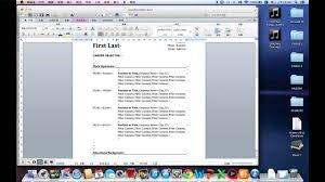 How To Write A Easy Resume In Word By Mac Youtube
