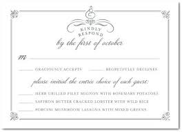 Response Cards For Weddings Wedding Meal Selection Cards Wedding Invitation Etiquette Wedding