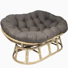 Gray Double Papasan Chair Cushion