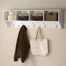 Wall Mounted Coat Rack Home Depot Unique WallMounted Shelf Coat Racks Entryway Furniture The Home Depot