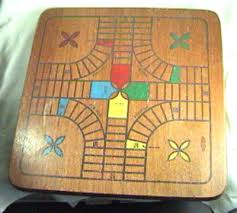 Old Wooden Game Boards Vintage Wooden Board Game Parcheesi Solid Wood VG Antique 22