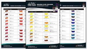 Atelier Acrylic Colour Chart Free Flow Golden Conversion Image Atelier Acrylic