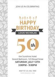 Invitation Templates Birthday Design Your Own 50th Birthday Invitations Online Fotojet