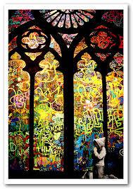 stained glass graffiti