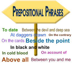 Image result for prepositional phrase image