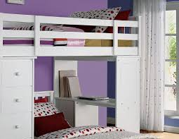 37145 bunk bed freya white twin loft bed with bookcase ladder w bottom twin bed