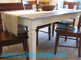 outdated or damaged dining table