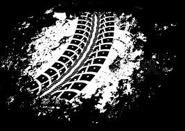 tire track background. Contemporary Background Tire Track Vector Background In Black And White Style  Stock Vector  Colourbox With Track Background R