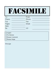 Facsimile Fax Cover Sheet 40 Printable Fax Cover Sheet Templates Template Lab