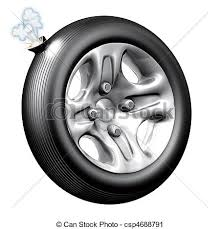 flat tires clipart. Interesting Flat Flat Tire  Csp4688791 With Tires Clipart R