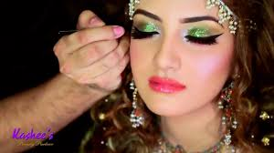 kashees attractive mehndi makeup drees jewelry hair styling by kashif aslam