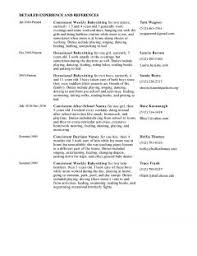 Resume Sample Nanny Professional Templates Ofver Letter Example ...