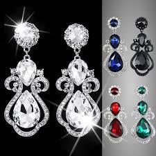big crystal chandelier earrings