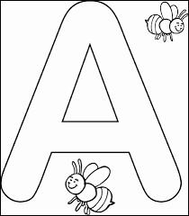 Lettere Semplici Da Colorare Immagini Di Lettere Alfabeto Disegni