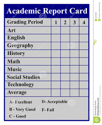 Academic Report Card Stock Vector. Illustration Of Graduation - 36350658