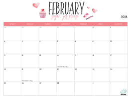 2018 Printable Calendar For Imom