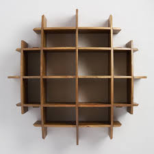 Convex Wood Wall Shelf