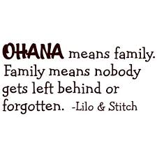 Ohana Means Family Quote Classy OHANA Means Family Lilo And Stitch Vinyl Wall Quote Etsy