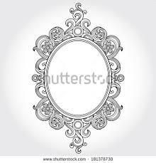 victorian frame design. Vintage Ornate Frame With Place For Your Text. Victorian Floral Decor. Save The Date Design I