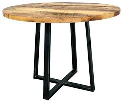 round reclaimed wood dining table with metal pedestal base round wood dining table with metal legs