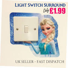Frozen Light Switch Cover Frozen Light Switch Surround Sticker Cover Vinyl Olaf Elsa