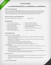 Resume Template Nursing