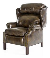 hancock moore chippendale recliner saddle brown