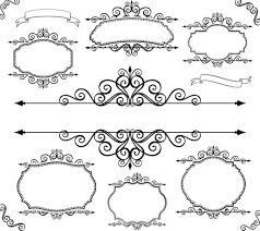 9 black vector border frame images