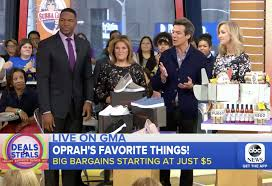 good morning america s deals and steals announcement on oprah s favorite things